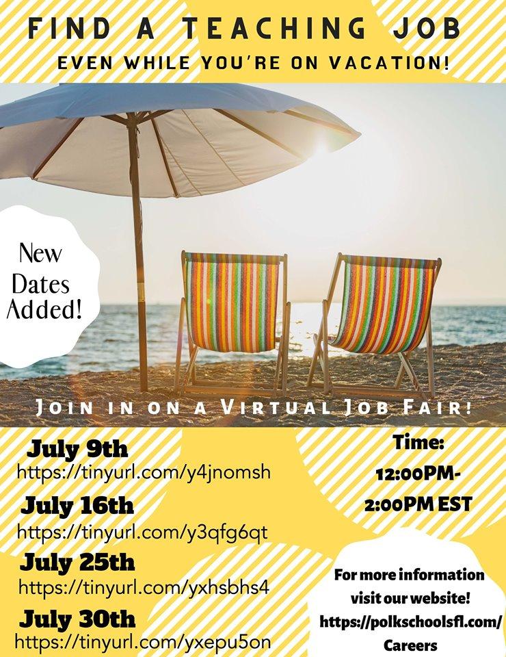 Online job fairs poster