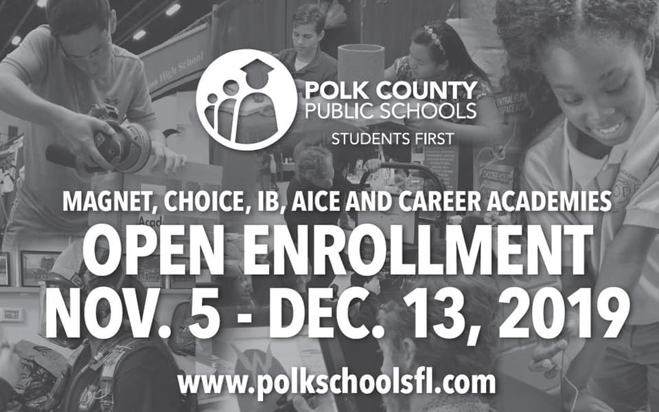 Open Enrollment November 5th - December 13 banner with students in background