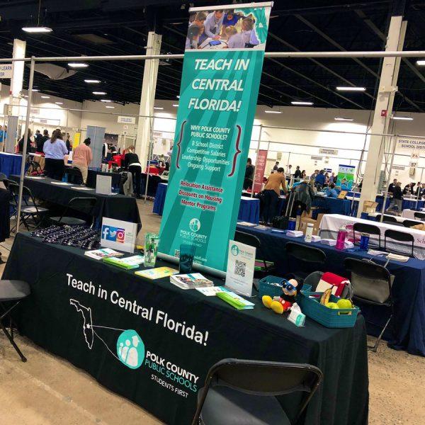 PCPS booth setup for job fair