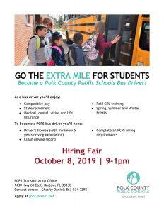 Bus driver hiring fair flyer
