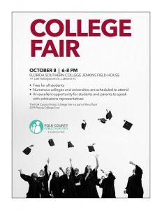Polk District College Fair flyer