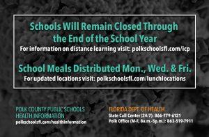 Schools closed through remainder of school year due to coronavirus.