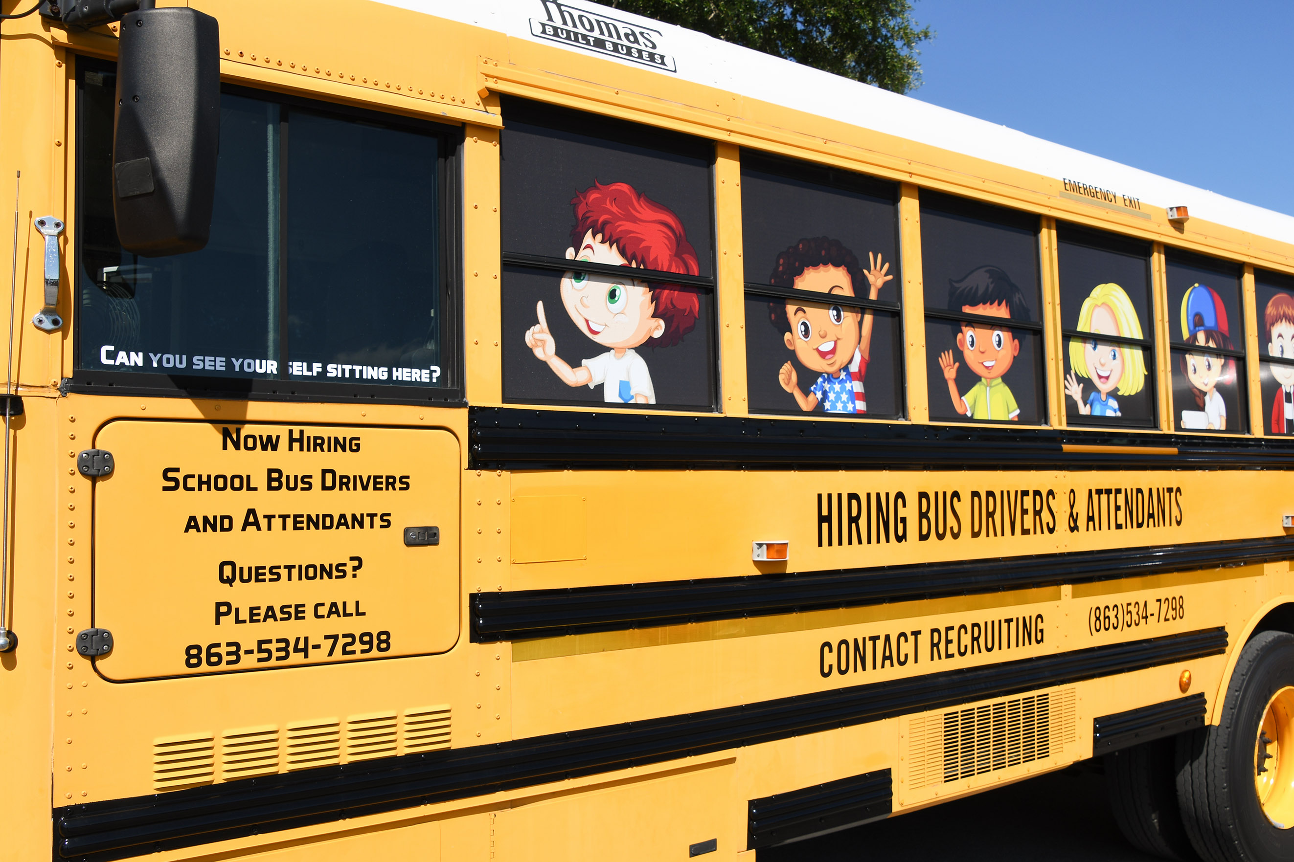 Photo of the PCPS recruiting bus