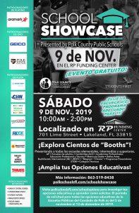 School Showcase flyer (Spanish)