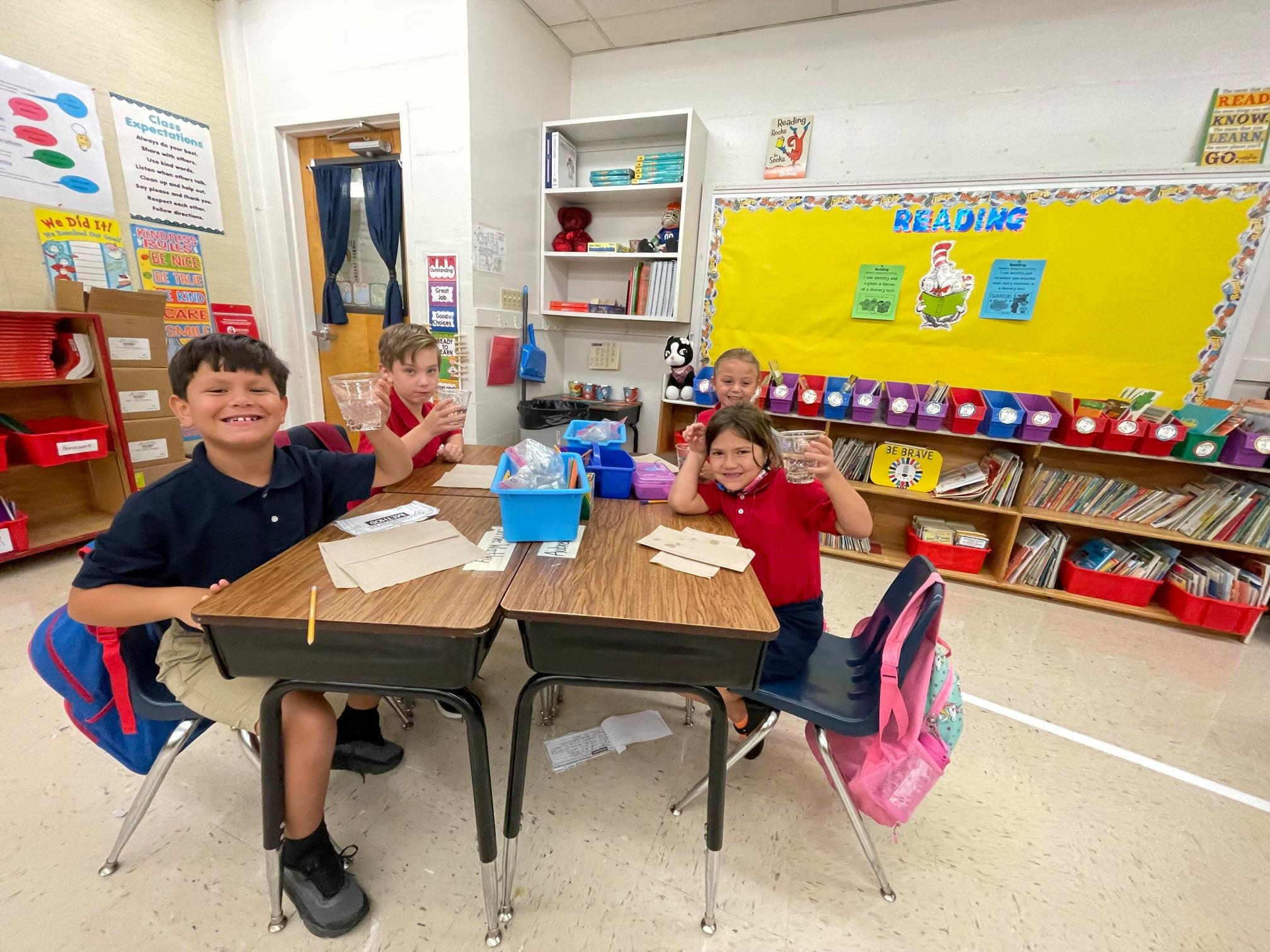 Students at Padgett Elementary