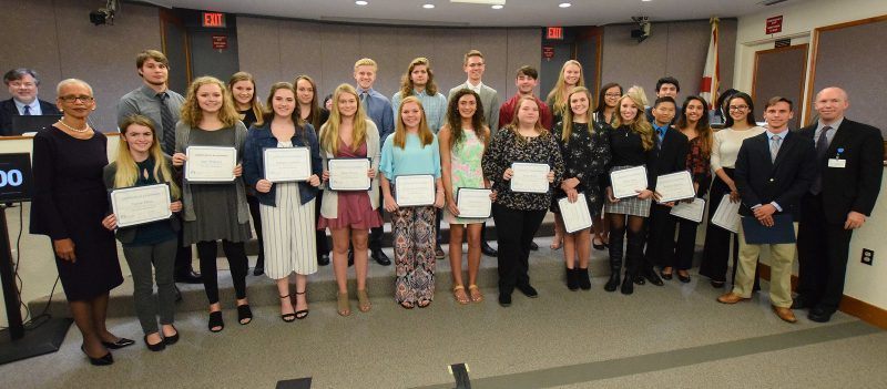 A photo of the U.S. Presidential Scholar finalists and winners from Polk County