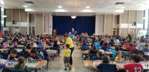 Photograph of a Polk Scholastic Chess tournament