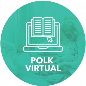 Polk Virtual title and laptop icon