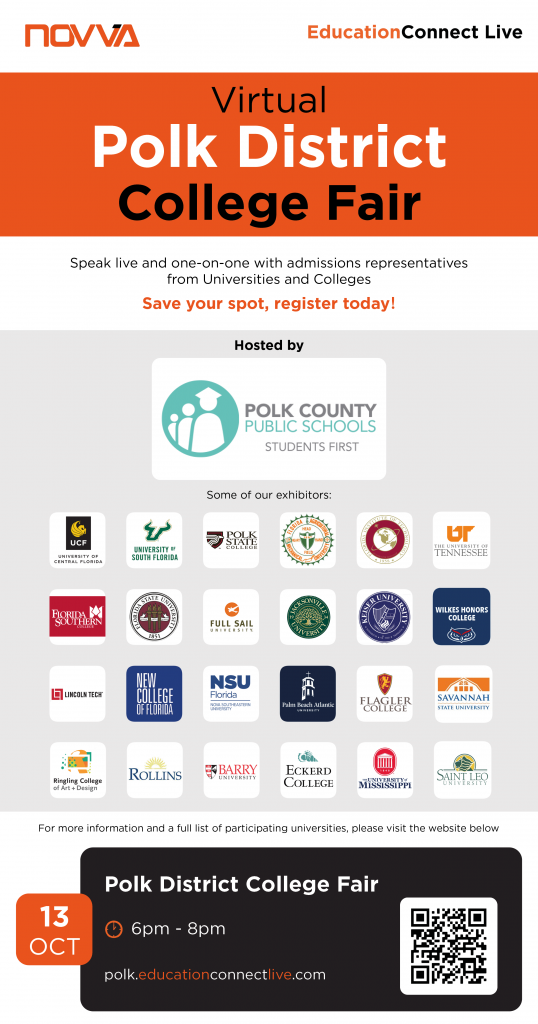 Flyer for Polk District College Fair