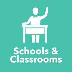Schools & Classrooms title and icon