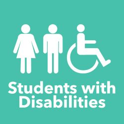 Students with Disabilities text with icon