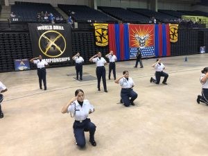 Photo of the RCHS Lady Bolts drill team