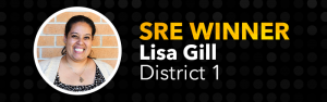 School-Related Employee of the Year, Lisa Gill, District 1