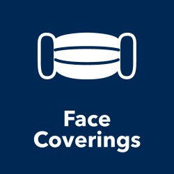 Face coverings title and icon