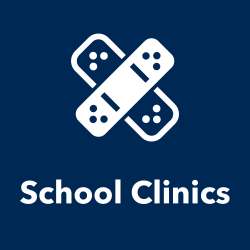 School Clinics title and icon