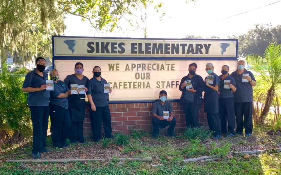 Photo of Sikes Elementary cafeteria staff