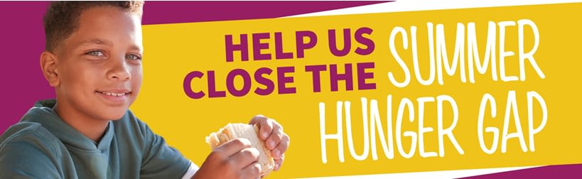 Help us close the summer hunger gap image with child eating