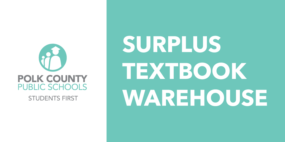 PCPS Surplus Textbook Warehouse sign