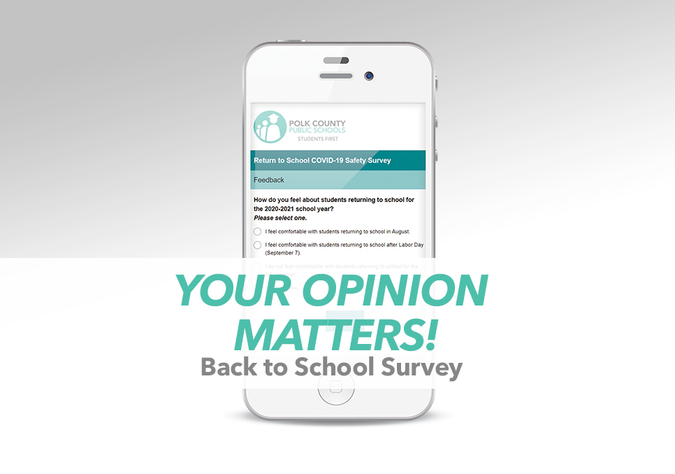 Your Opinion Matters! Take our back to school survey.