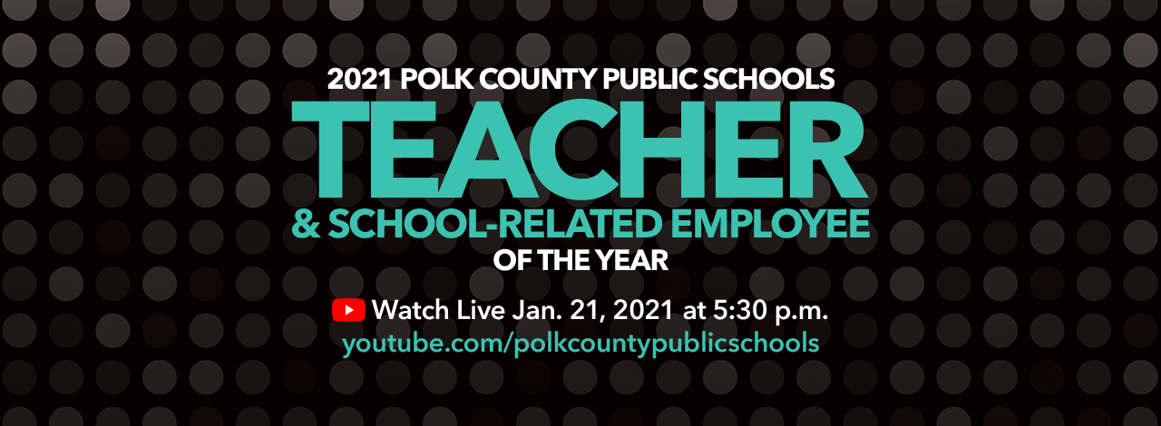 Teacher of the Year 2021 event banner