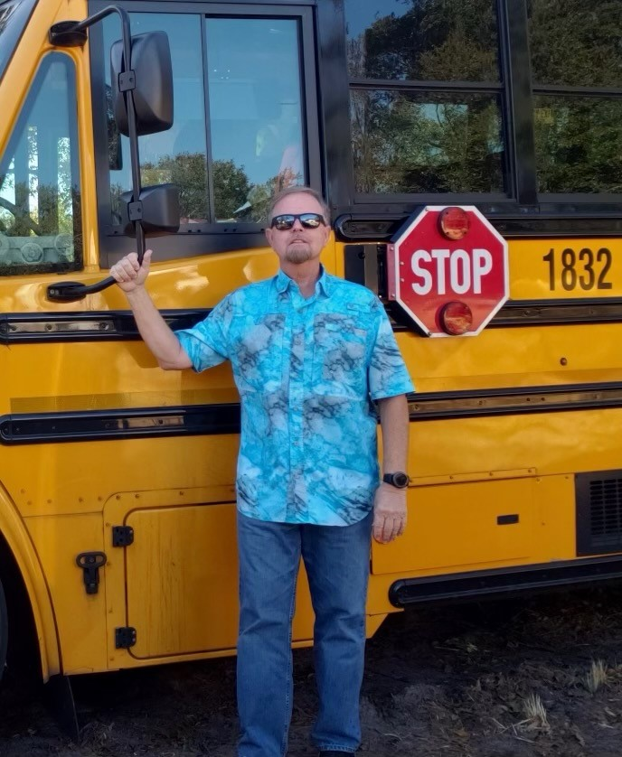 Photo of PCPS bus driver Tim Harper