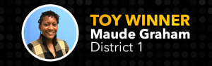 Teacher of the Year, Maude Graham, District 1