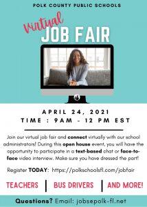 Virtual district job fair flyer.