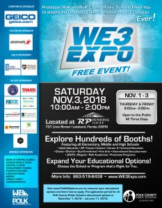 2018 WE3 Expo flyer in English.