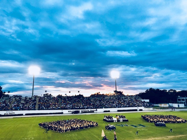 A photo of Winter Haven High's 2018 graduation ceremony at Denison Stadium