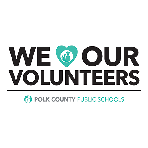 We Love our Volunteers graphic