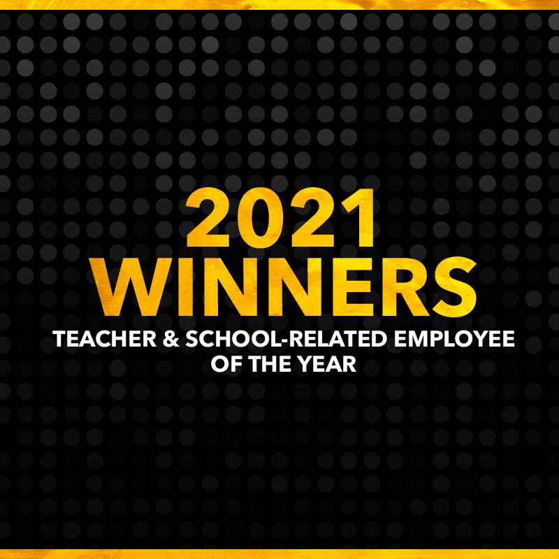 2021 Teacher and SRE winners graphic