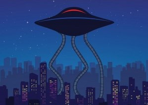 Flying saucer image