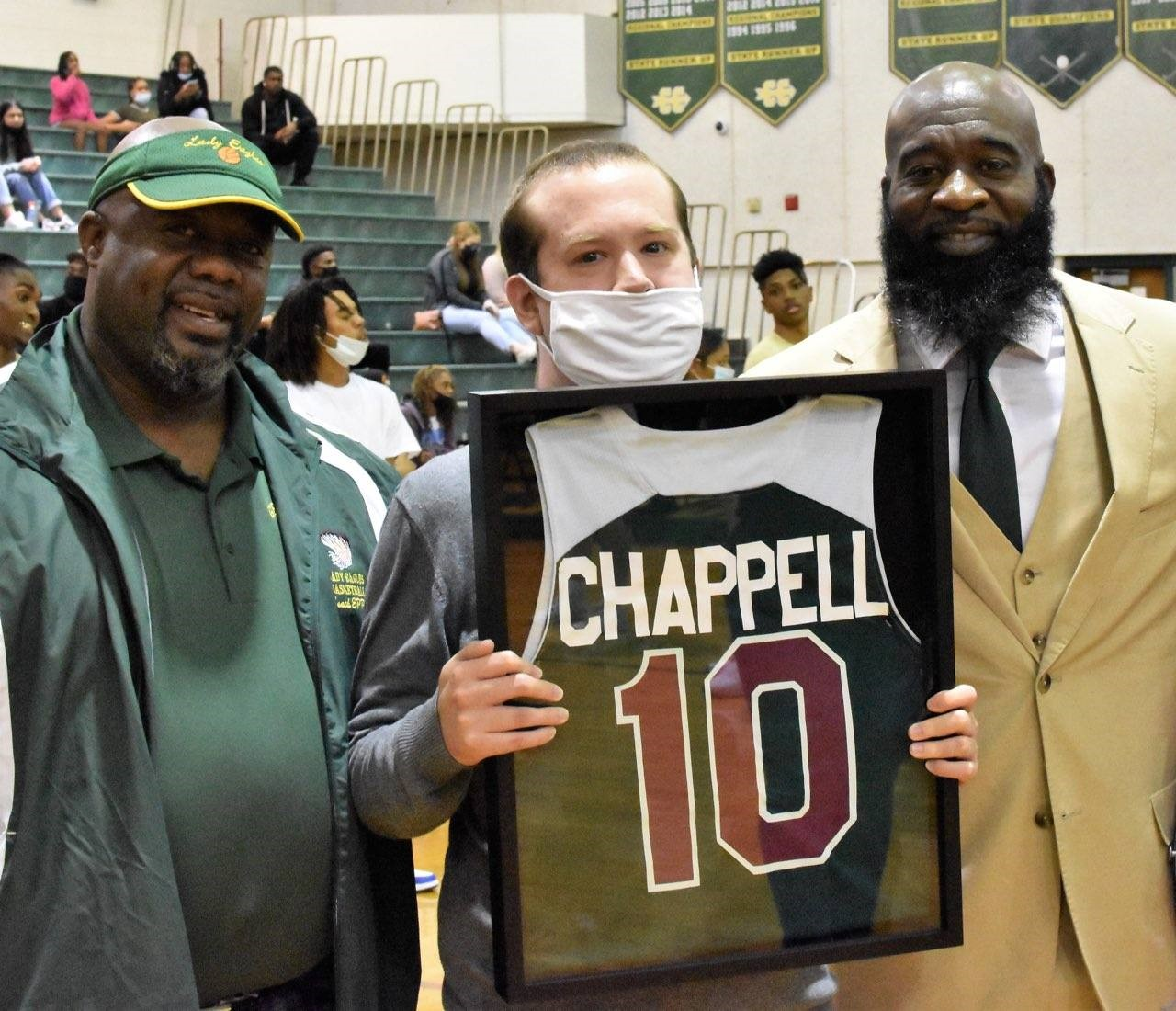 Photo of Evan Chappell with Marcus Ghent and Raymond Epps.