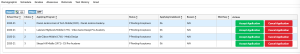 Screenshot of the page displaying your students status