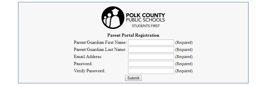 Register for parent portal