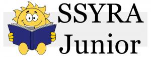 SSYRA Junior Logo Grades K-2 with sun mascot reading a book
