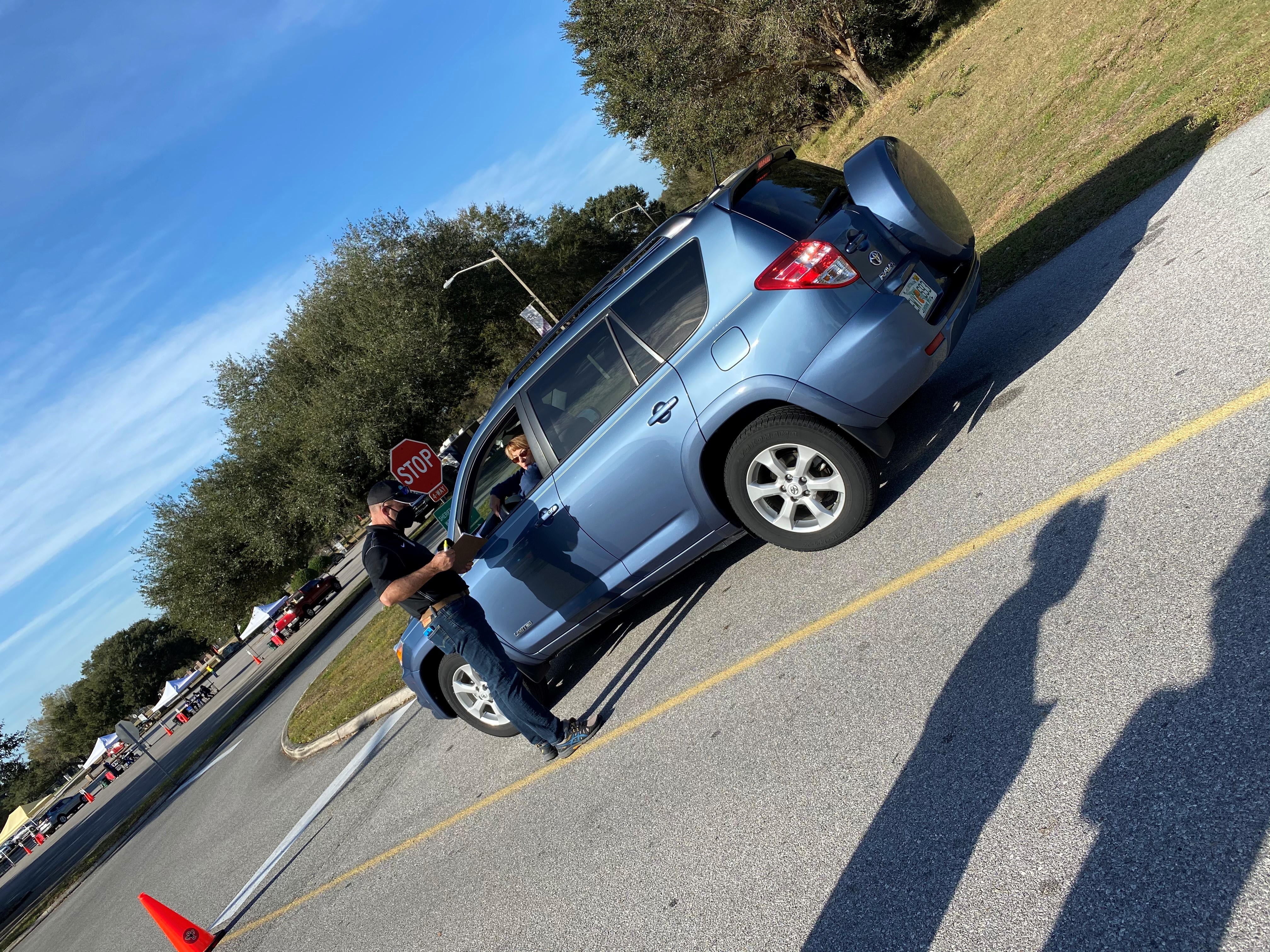 Photo from PCPS drive-thru vaccine event